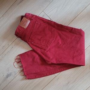 Levis button up jeans